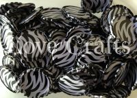 'Black & White Zebra' Bottle Caps