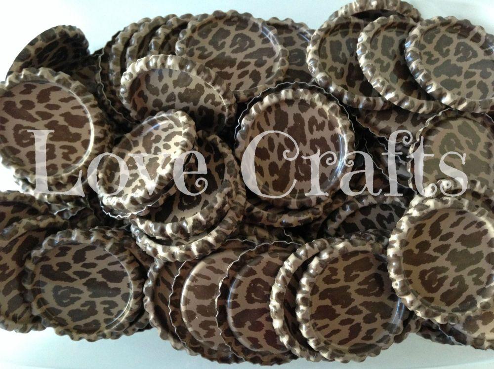 'Leopard Print' Bottle Caps