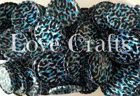 'Turquoise/Aqua Leopard' Bottle Caps