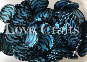 'Turquoise/Aqua Zebra' Bottle Caps