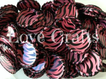 'Dark Pink Zebra' Bottle Caps