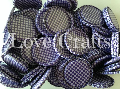 'Purple Spot' Bottle Caps