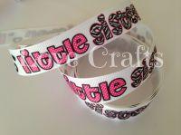 """1 metre - 7/8"""" Little Sister Zebra Print Grosgrain Ribbon"""