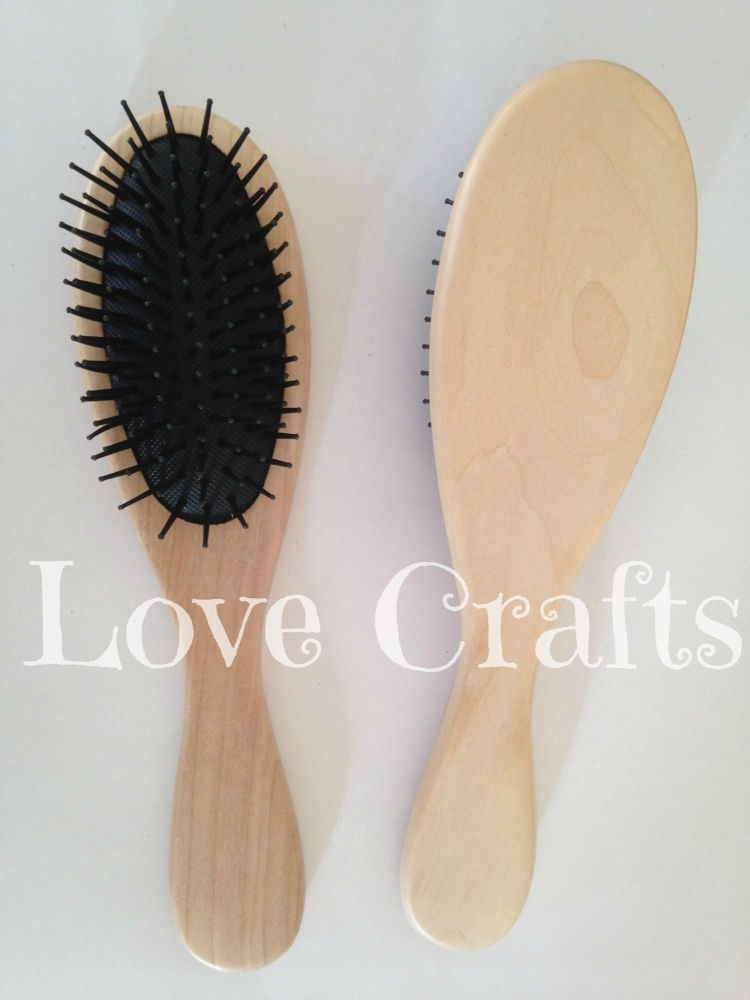 Large Hair Brush with Plastic Bristles