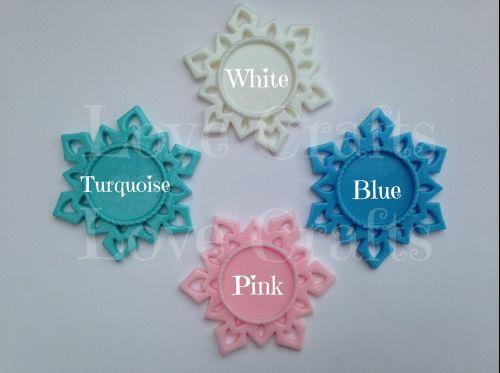 Snowflake Resin Centres