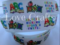 "1 metre - 1"" ABC Grosgrain Ribbon"