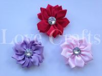 60mm x 60mm Large Satin Flower Bows