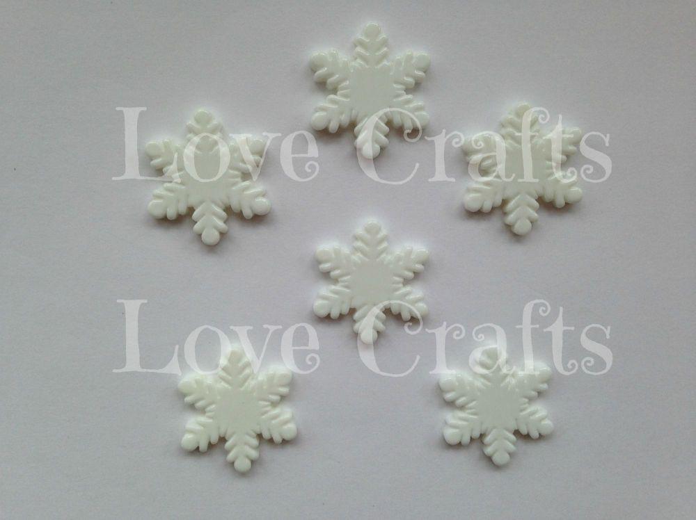 Snowflake Flatback Resin