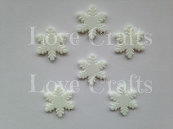Small Snowflake Flatback Resin