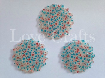 Red & Blue Dot Resin Centre