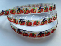 "1 metre - 3/8"" Pumpkin Grosgrain Ribbon"