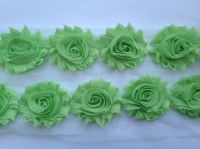 "2.5"" Lime Shabby Flowers"