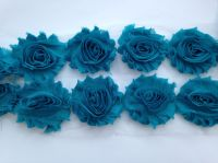 "2.5"" Turquoise Shabby Flowers"