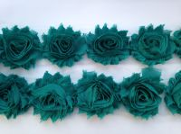 "2.5"" Green Shabby Flowers"