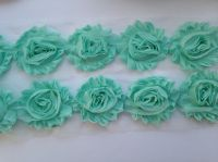 "2.5"" Mint Shabby Flowers"