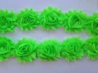 "2.5"" Neon Green Shabby Flowers"