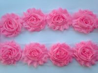 "2.5"" Light Pink Shabby Flowers"