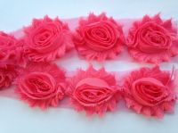 """2.5"""" Mid Pink Shabby Flowers"""