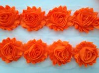 "2.5"" Neon Orange Shabby Flowers"
