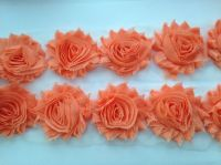 "2.5"" Peach Shabby Flowers"