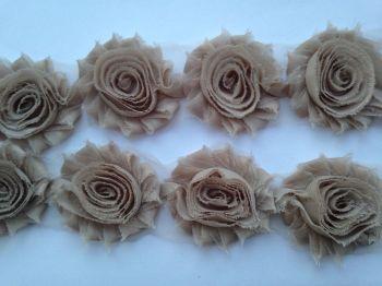 "2.5"" Beige Shabby Flowers"
