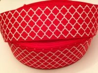 "1 metre - 1.5"" Red & White Grosgrain Ribbon"