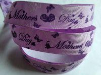 "1 metre - 7/8"" Mothers Day Grosgrain Ribbon"