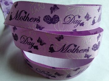"1 metre - 7/8"" Mothers Day Grosgrain Ribbon"