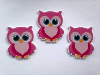 Pink Owl Laser Cut Resin