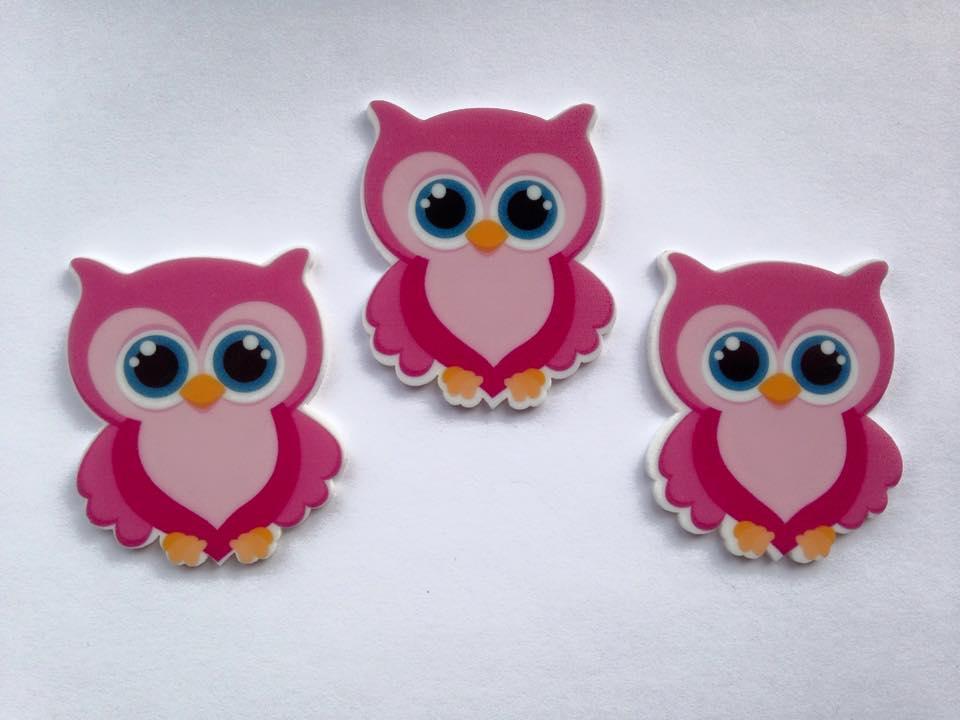 Pink Owl Laser Resin