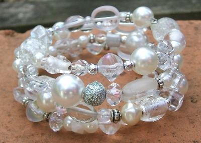 Wraparound Bridal bracelet