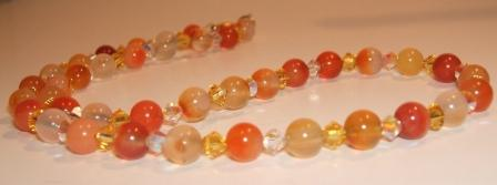 Carnelian and Swarovski Necklace