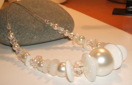 White Bridal Necklace