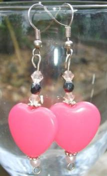 Pink 'Heart' earrings