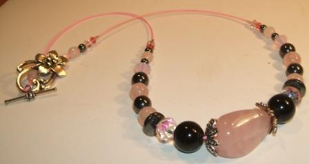 Rose Quartz + Haematite Necklace