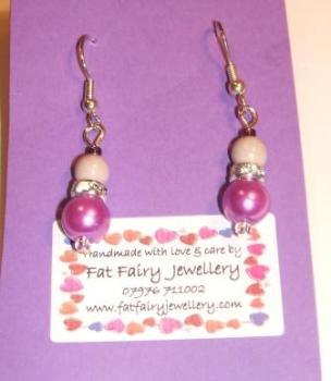 Purple + pink sparkly earrings