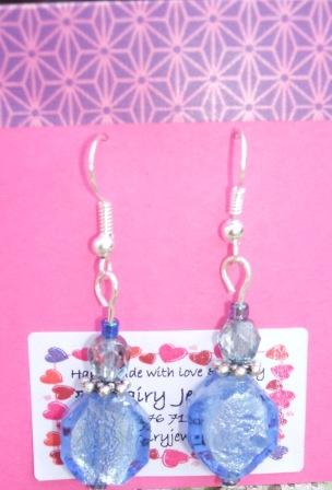 Blue + silver earrings