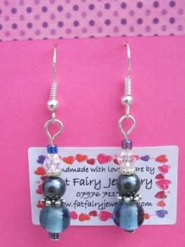 Two-shades of blue earrings