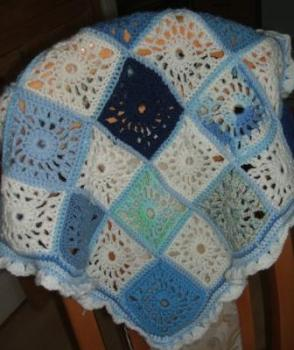 Baby blue blanket - SOLD