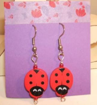 Red Ladybird Earrings