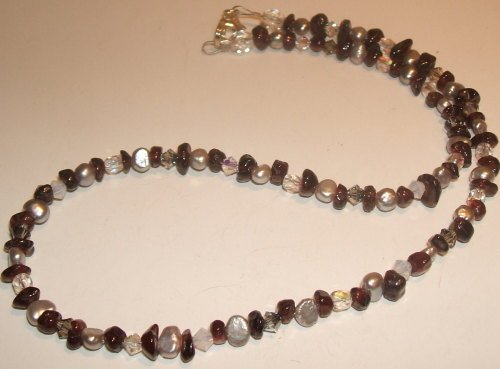 Garnet and Freshwater Pearl necklace