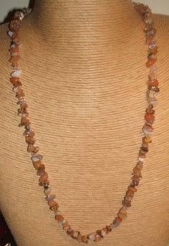 Botswana Agate + Swarovski crystal necklace