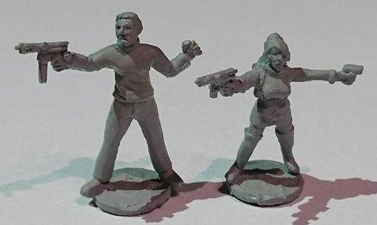 SRV17 Survivours/Insurgent/Criminal SPIES/ Secret Agents with TEC9 SMG