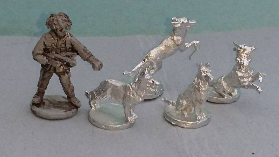 BAOR24 BAOR Dog Handler with Sterling SMG and random dog