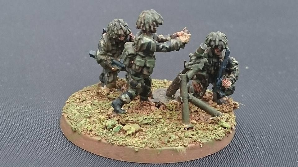 BAOR07 British with 81mm Mortar
