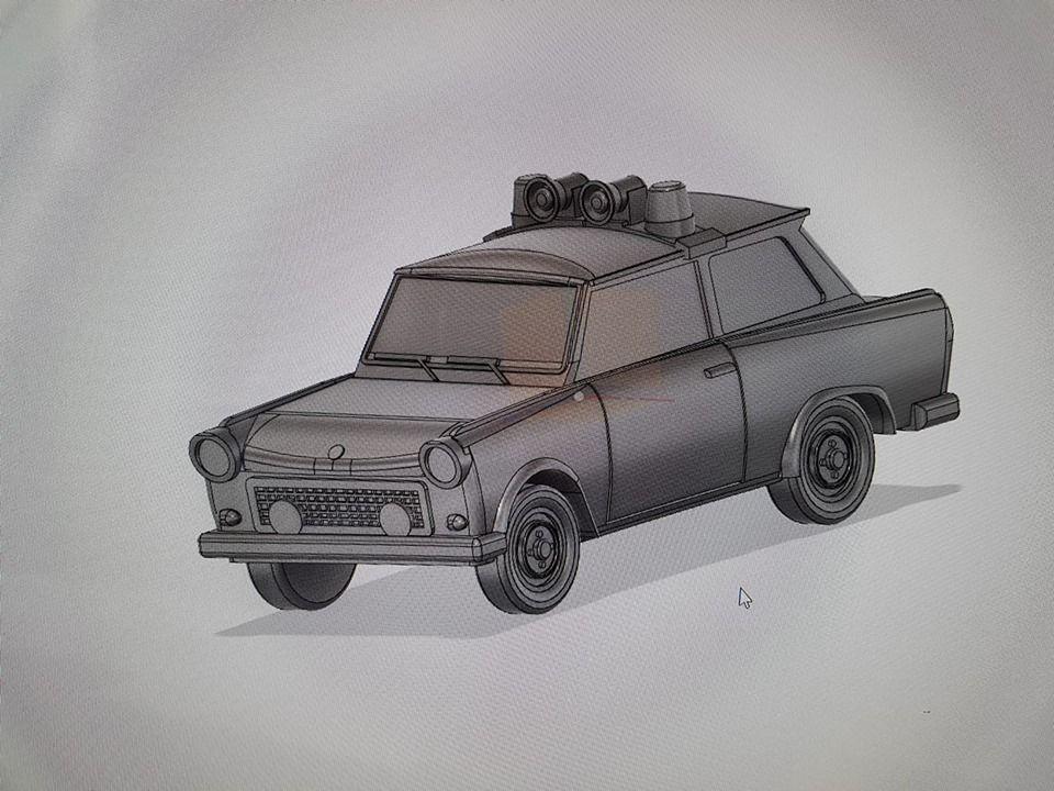 VCV04 East German Police Car Trabant