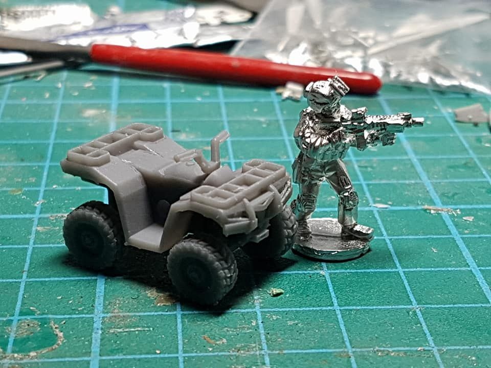 VCV06 ATV Quad with extra bars for kit.