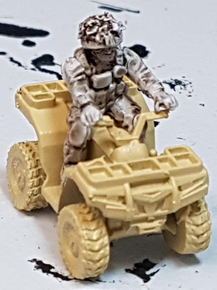 Mk407 Modern British Quad Bike Rider (no vehicle)
