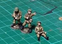 CWR19 Soviet ZPU AA gun crew in Khaki uniforms