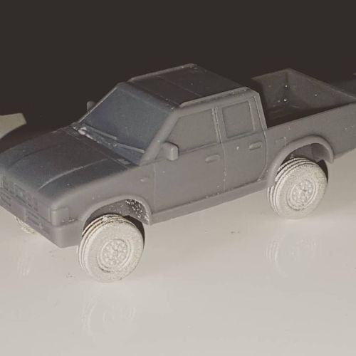 VCV09 Generic 4x4 Pickup truck double cab with road wheels